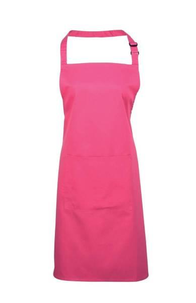 hot pink Latzschürze mit Tasche