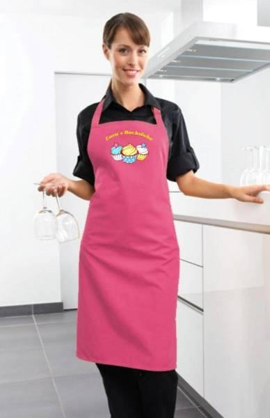 Hotpink Motivschürze Cupcake mit Name CB2N