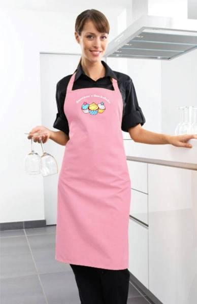 Rosa Motivschürze Cupcake mit Name CB2N