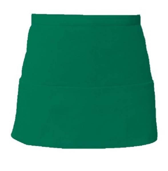 Emeraldgrüner Vorbinder mit 3 offenen Taschen
