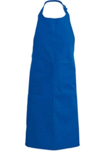 Royalblaue Latzschürze mit Taschen K890
