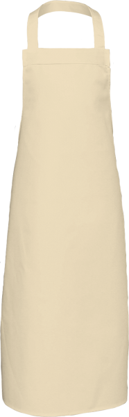 Naturweiße Latzschürze extra lang X969 Link Kitchenwear