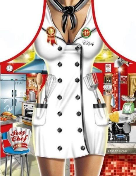 Sexy Chefköchin lustige Schürzen von Itati