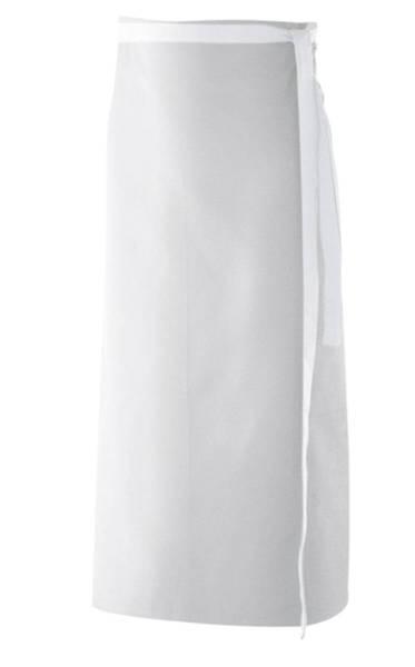 Weiße Bistroschürze 100x100cm ex103 Baumwolle