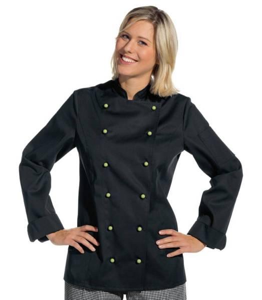 Schwarze Damenkochjacke figurbetont Leiber 2518