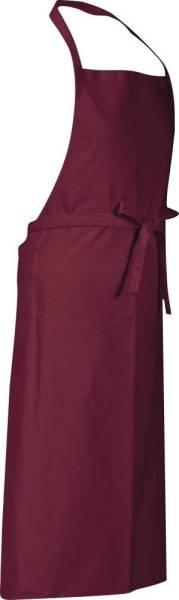 Dunkelrote Latzschürze 90x78cm Verona von CG Workwear