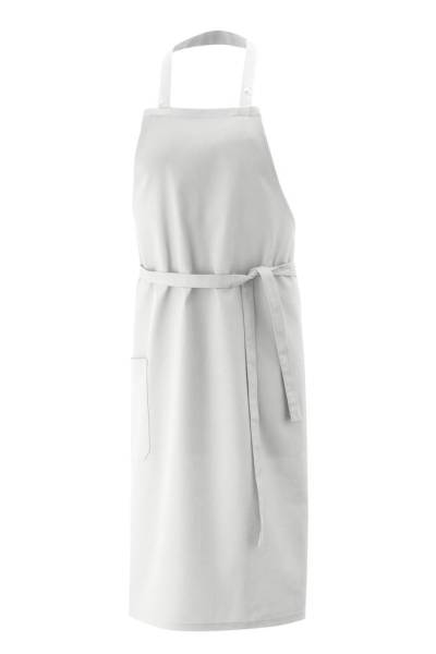 Weiße Latzschürze ex142 100% Baumwolle