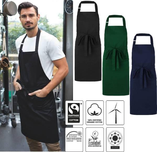 Latzschürze Biobaumwolle & recycl. PET,Fairtrade, Neutral 92020