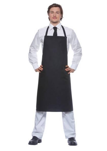 schwarze Schürze, Nackenband mit Druckknöpfen Santorini von Karlowsky