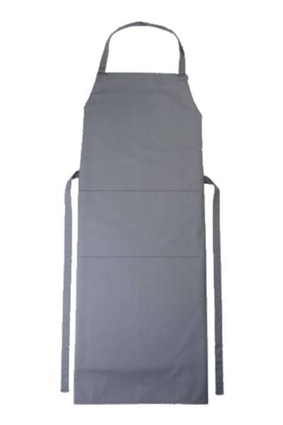 Graue Latzschürze mit Tasche Verona von CG Workwear Elefant