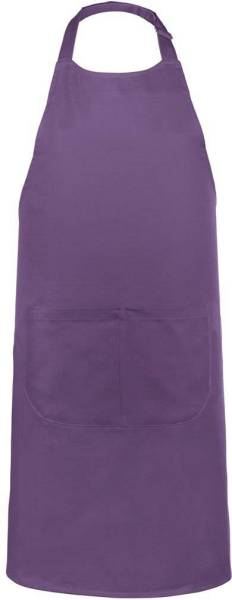 Lila Baumwollschürze mit Taschen Kariban
