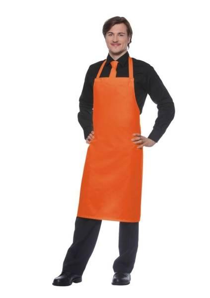 Orange Schürze, Nackenband mit Druckknöpfen Santorini von Karlowsky