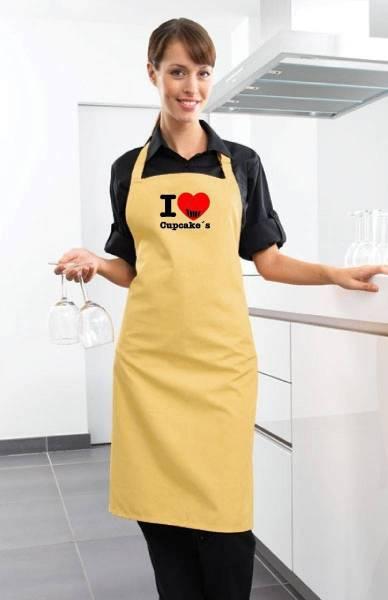 lemon Motivschürze i love cupcake