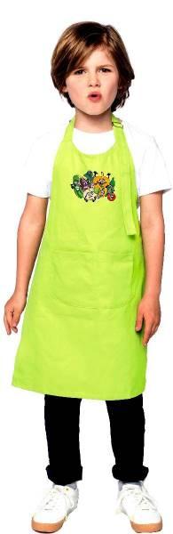 Hellgrüne Kinderschürze Gemüse k889