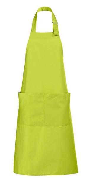 Apfelgrüne Latzschürze mit Taschen