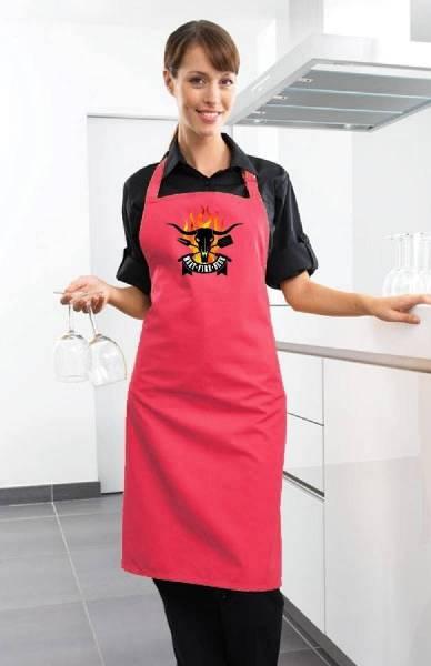Fuchsia Grillschürze Meet Fire Beer BBQ pink
