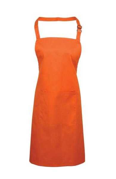 orange Latzschürze mit Tasche