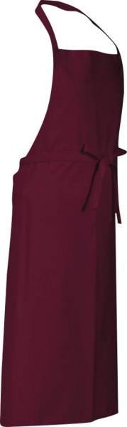 Rote Latzschürze mit Tasche Verona von CG Workwear