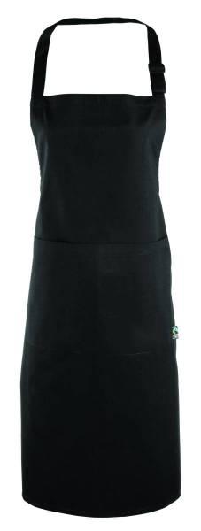 Schwarze Latzschürze Fairtrade Baumwolle