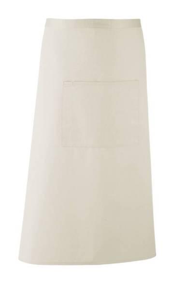 natural Bistroschürze mit Tasche pr158