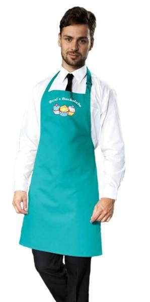 Petrol Motivschürze Cupcake mit Name CB2N