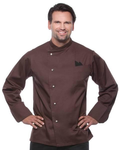 braune Kochjacke mit Druckknöpfen Lars