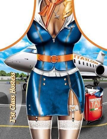 Sexy Stewardess lustige Schürze ITATI