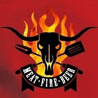 Rote Grillschürze BBQ bedruckt