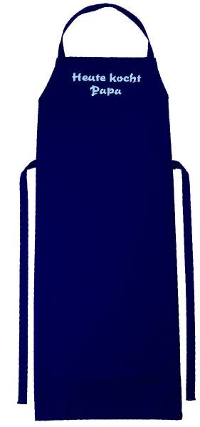 Dunkelblaue Schürze mit Text bedruckt 110x75 Verona