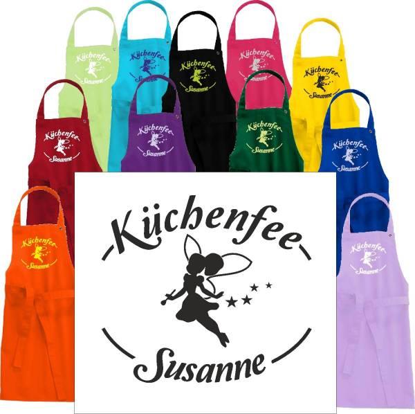 Küchenfee Kinderschürze mit Name bedruckt