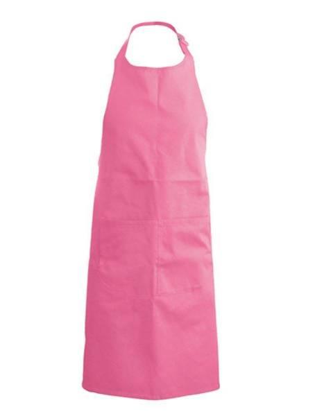 pinke Baumwollschürze mit Taschen Kariban k889