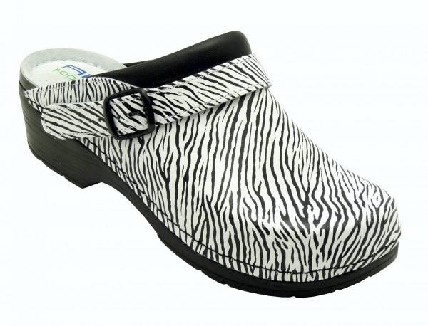 AWC Arbeitsschuh Clogs Damen Zebra