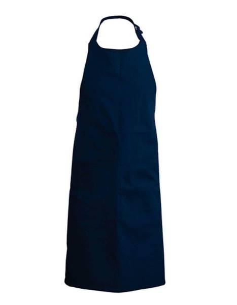 Navy Baumwollschürze mit Taschen Kariban K885