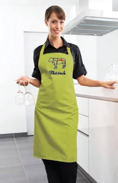 Hellgrüne Schürze Filetstück Rind