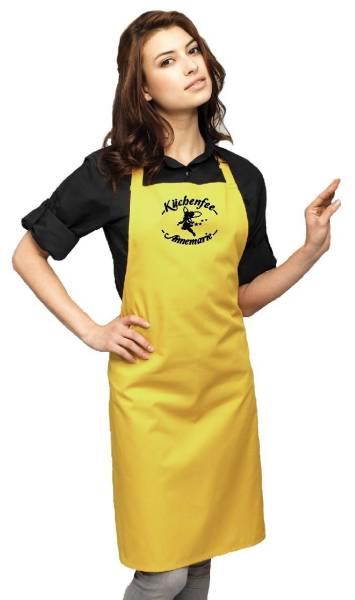 Mustard Motivschürze Küchenfee mit Name bedruckt