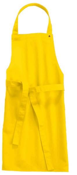 Gelbe Kinderschürze 78x60cm, 95 Grad waschbar, Sassari CG-Workwear