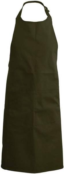 Olivgrüne Latzschürze mit Taschen K890