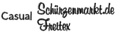 casual-stickschrift
