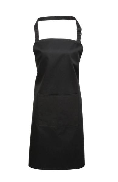 schwarze Latzschürze mit Tasche