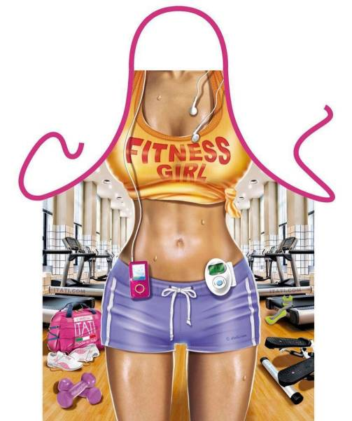 Sexy Miss Fitness lustige Schürze von Itati