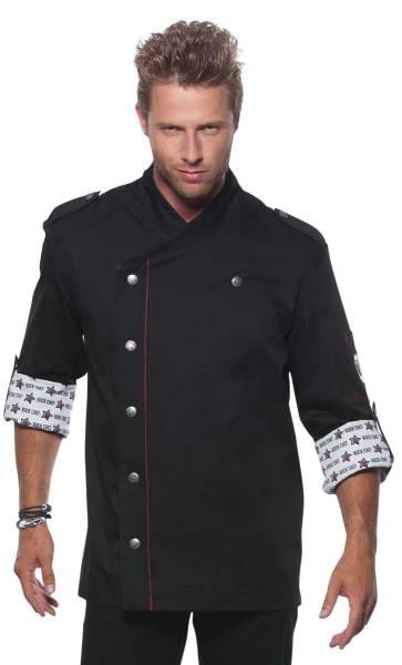 Rock Chef Kochjacke schwarz RCJM2