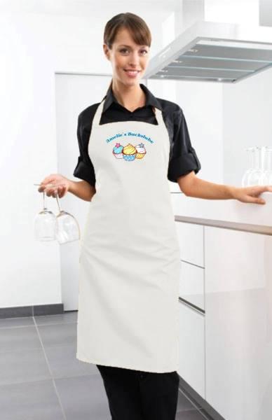 Weiße Motivschürze Cupcake mit Name CB2N