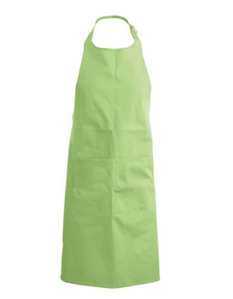 Limegrüne Latzschürze mit Taschen K890