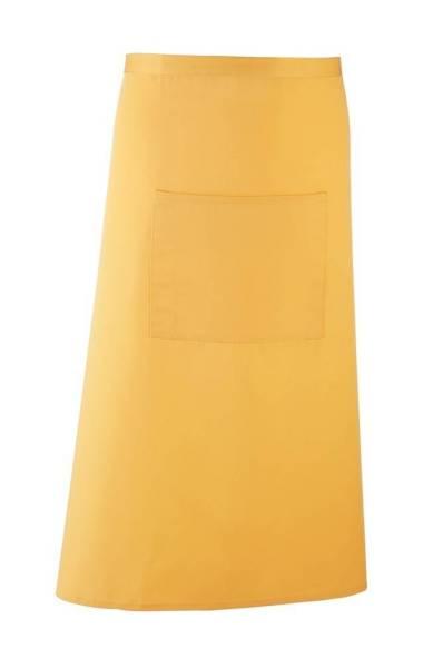 Gelbe Bistroschürze mit Tasche pr158