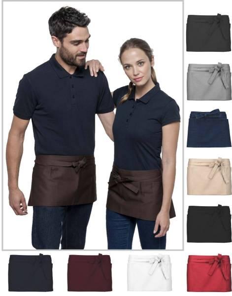 Vorbinder mit Taschen 100% Baumwolle K886 Kariban