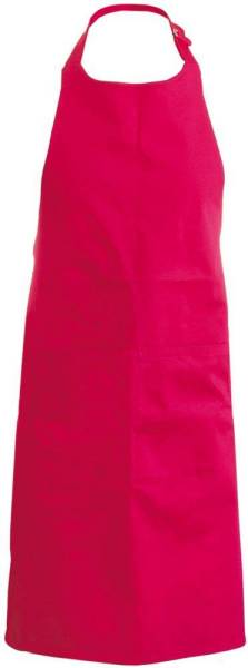 Rote Latzschürze mit Taschen K890