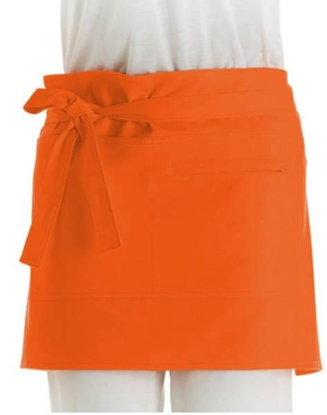 Oranger Vorbinder mit Reißverschlusstasche