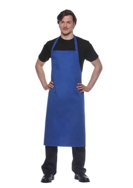 Blaue Schürze, Nackenband mit Druckknöpfen Santorini von Karlowsky