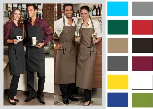 Latzschürze mit Tasche, 95 Grad waschbar in vielen Farben; Verona CG