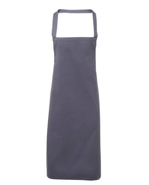 Blaugraue Latzschürze 100% Baumwolle PR102